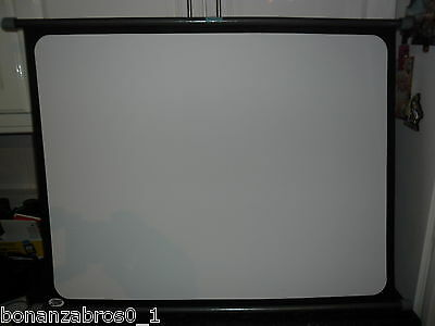 """VINTAGE Boots Simplex Projector Screen 24"""" x 32"""" With Case Used"""