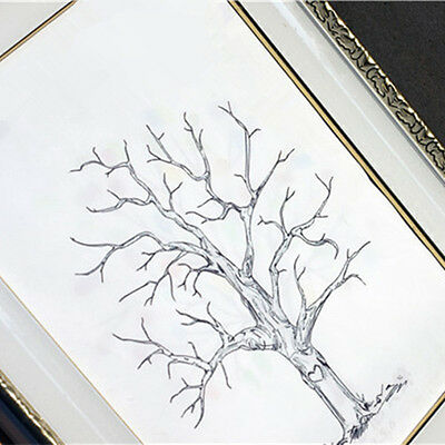 Baby Shower A3 Guest Book Fingerprint Family Tree Ink Pad Wedding Decorations