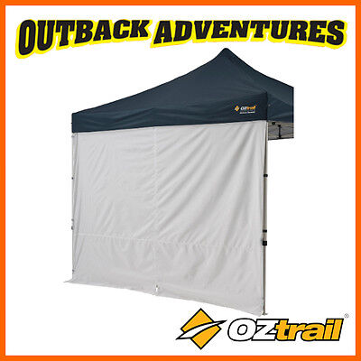 2 x OZTRAIL 3m DELUXE SOLID SIDE WALL WITH CENTRE ZIP GAZEBO
