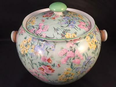 Vintage Shelley Biscuit Barrel Chintz Melody Pattern Circa 1930/40's A/F