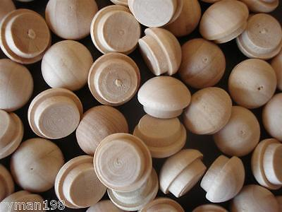 Mushroom Button Wooden Screw Head Cover Plugs - 3/8""