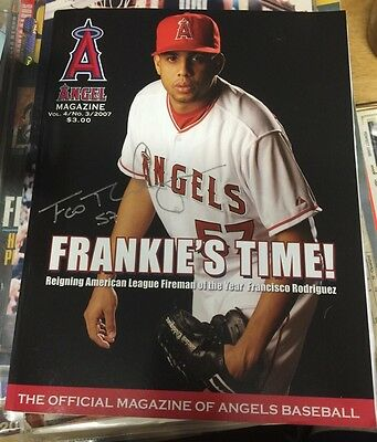 Francisco Rodriguez Hand Signed 2007 Angels Baseball Magazine