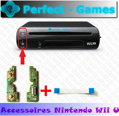 Bouton ON OFF power eject led disc power switch board cable nappe nintendo Wii U