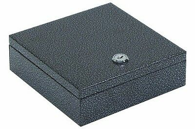"Hercules CB0707 Key Locking Cash Box with 4 Compartment Tray, 6.75"" x 6.87"" x"