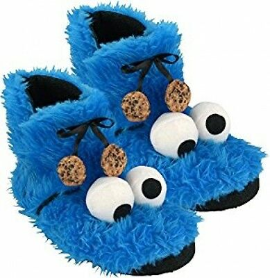 Sesame Street Cookie Monster Plush Slippers Booties (0122030Size 37/38