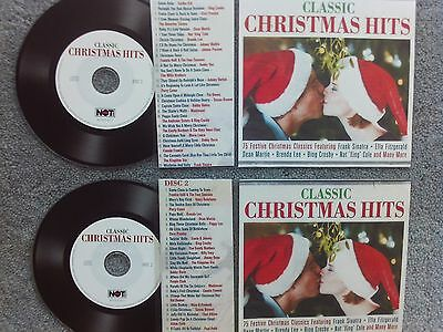 Classic Christmas hits  2 x Jukebox CDs for NSM Jukeboxes + matching Title Cards