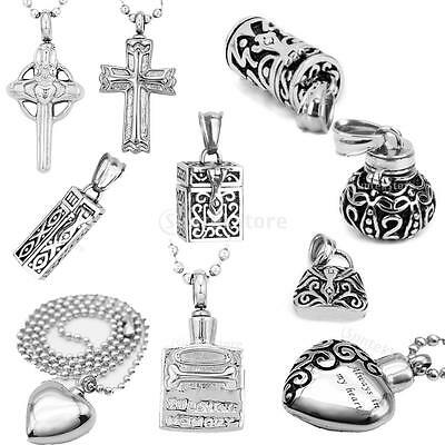 Cremation Memorial Urn Pendant Necklace Ashes Keepsake Casket Jewellery Accs