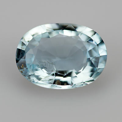 1.52ct Aquamarine Oval cut 9.38x6.95mm Si2 Natural loose blue gemstone