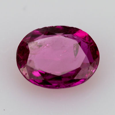 0.30 ct Ruby Oval cut 4.86x3.9mm Si2 Natural loose red gemstone No Glass Filling