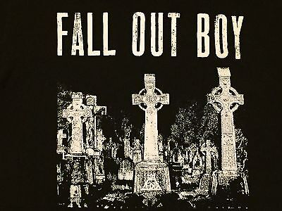 Fall Out Boy Cemetery Small Black Concert Tour Shirt