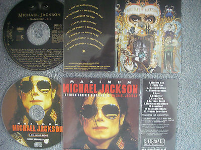 Michael Jackson  2 x Jukebox CDs for NSM Jukeboxes + matching Title Cards