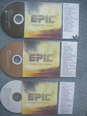 Epic Bands Tracks  3 x Jukebox CDs for NSM Jukeboxes + matching Title Cards