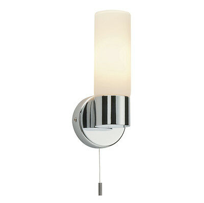 Saxby 34483 - Pure - 40W Modern Decorative Pull Cord Chrome Bathroom Wall Light