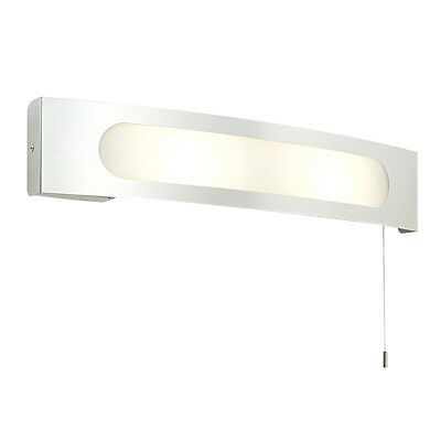 Saxby - Convesso - 25W Switched Chrome Bathroom Wall Light with Shaver Socket