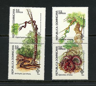 Dominican Republic 1994  #1177A, 1179A  fauna snakes reptiles PAIRS  MNH I630