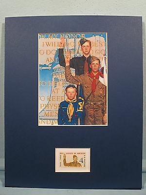 Norman Rockwell -  Boy Scouts, Cub Scouts & Explorers & the Boy Scout stamp