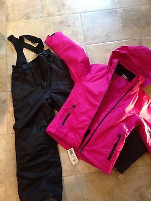 Girls 7-8 Snow Jacket And Salopette Trousers