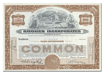 Rayonier Incorporated Stock Certificate