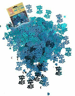Its A Boy Baby Shower Confetti Blue Party Decorations Tableware Scatter Table