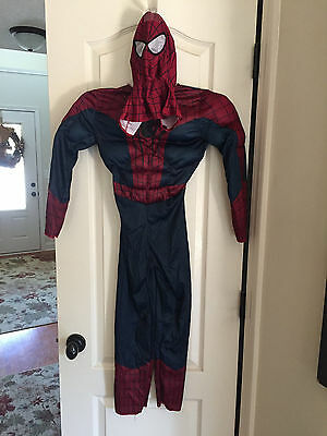 Spiderman with Muscles and cloth mask Halloween Costume Boys Size 6