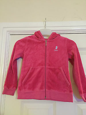 Juicy Couture girl's pink velour feel hooded top. Age 5