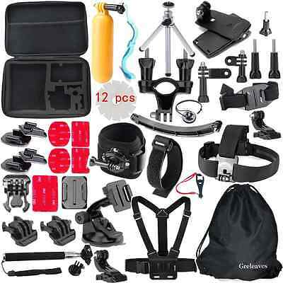 Greleaves 50 in 1 Accessories Bundles Kit with Case for Gopro Hero 4 Session,Gop