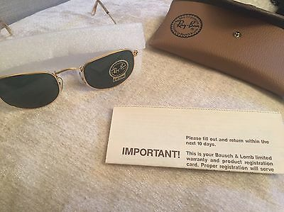 Ray-Ban Sunglasses B&l W0978 Arista Gold Classic Collection G-15 Unisex
