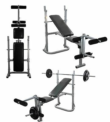 Weight Bench Adjustable folding multi gym bench Leg extension REPACKED