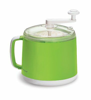 Cuisipro Donvier Manual Ice Cream Maker, 1-Quart, Green