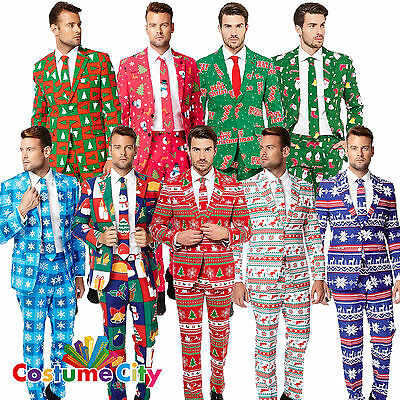 Adult Mens Christmas Opposuit Office Party Suit Fancy Dress Costume Outfit