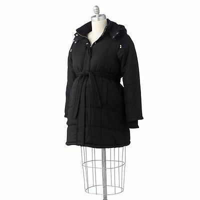 NEW Medium Oh Baby by Motherhood Hooded Puffer Coat Maternity Jacket $150
