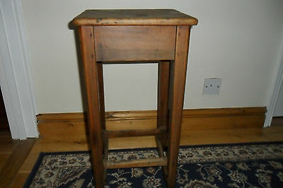 Antique Tall  Victorian Pine Stool