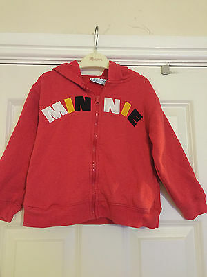 Disney girl's Minnie Mouse red hoodie. Age 4