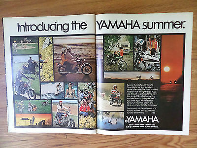 1972 Yamaha Motorcycle Ad  From 70CC to 650