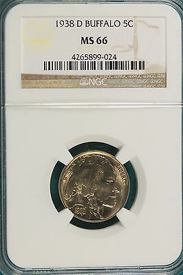 1938-D NGC MS66 Buffalo Nickel!! #A2574
