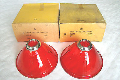 1960 Buick NOS tail Light Lens pair in Box NORS