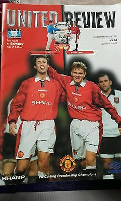 Manchester United v Barnsley FA Cup 5th Round 1998