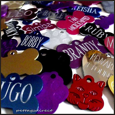 Small, Med & Large Dog Puppy/Cat/Kitten PET ID Name Disc,Disk Tag Engraved free!