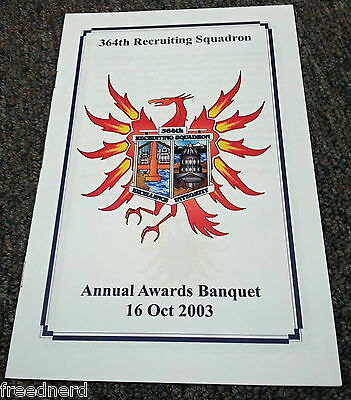 364th Recruiting Squadron Annual Awards Banquet October 16, 2003 Air Force