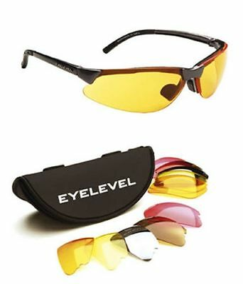 5 Lens Interchangeable Clay Pigeon Shooting Glasses Eyelevel Sunglasses UV 400