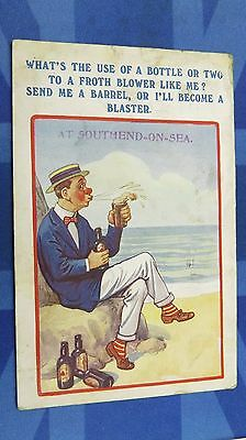 Southend Comic Postcard 1920s Ancient Order of Froth Blowers AOFB BASS BEER