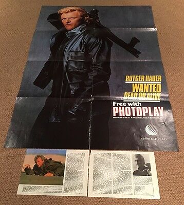 Large Rutger Hauer - Wanted Dead Or Alive- Poster     - Photoplay