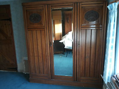 Antique Satinwood Victorian Compactum, Linen Press, Drawers, Wardrobe Etc