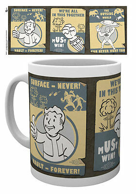 FALLOUT 4 Vault Boy Mug - VAULT POSTERS - Official Licensed ceramic mug MG1210