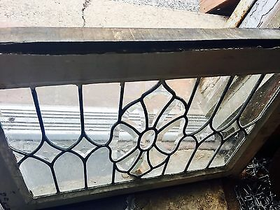 Fantastic Floral & Diamond Heavy Beveled Window 1920's