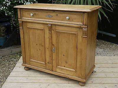 Beautiful! Old Antique (Victorian) Stripped Pine Dresser Base/sideboard/cupboard