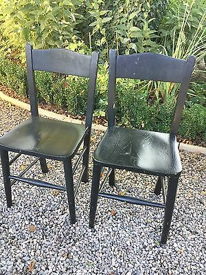 Pair Of Children's Elm Painted Chairs