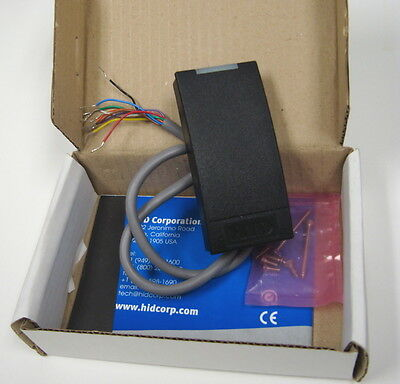 HID iClass R10 Card Reader, 6100, Black, 13.56MHz, New