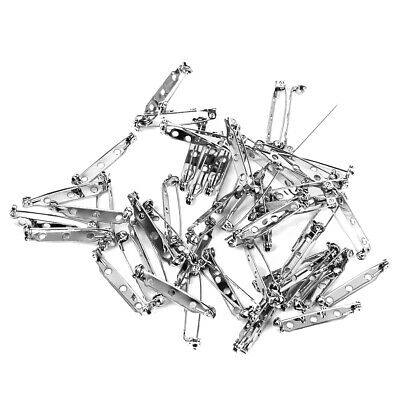 Pack of 45pcs Brooch Badge Make Findings DIY Back Safety Catch Bar Pins 32mm