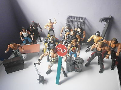 WCW nWo Figures Bruisers Rare Lot With Accessories Wrestling WWE TNA WWF ECW WWF